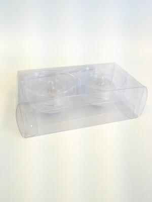 Floating Glass Votive with LED T lights