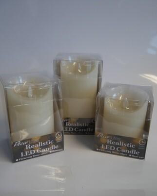 Realistic LED Candle Ivory