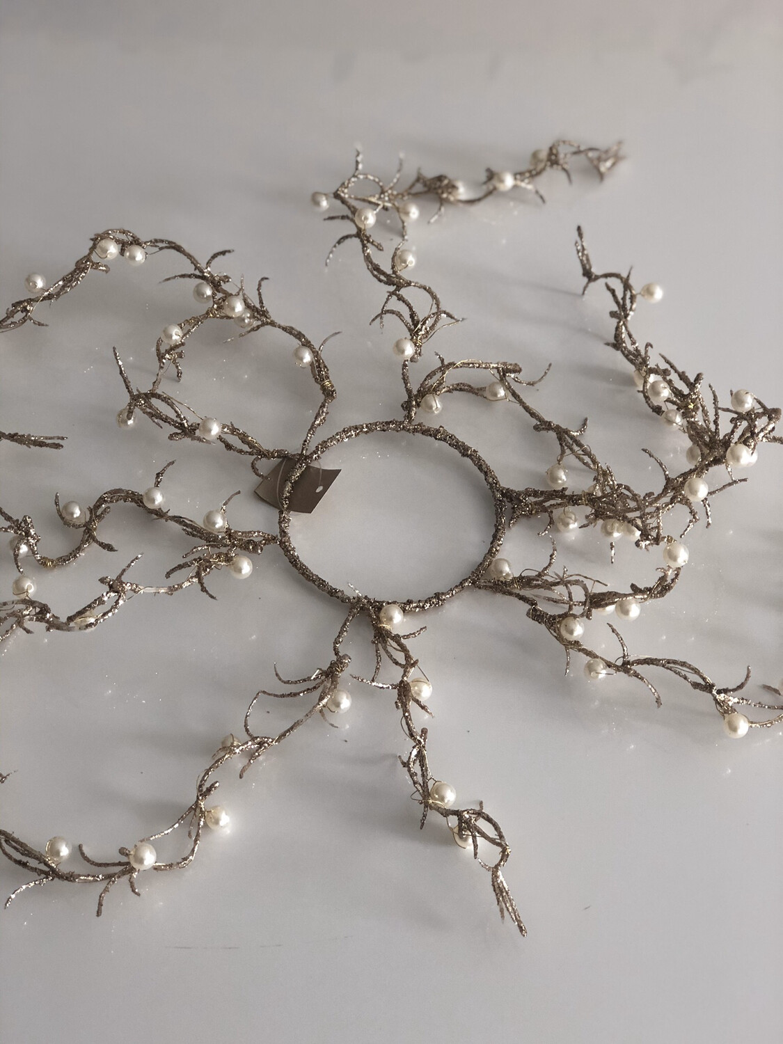 Pearl Twig Candle Ring