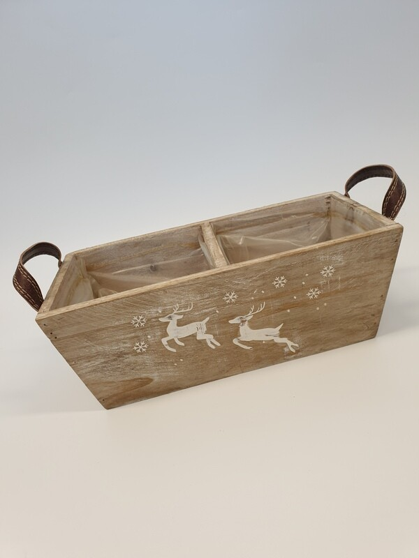 Wooden Reindeer Planter