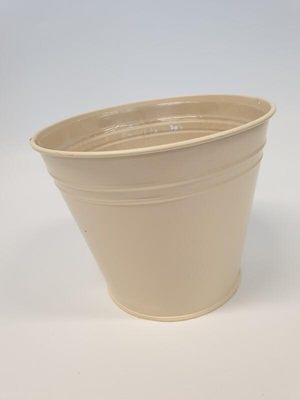 Cream Zinc Bucket