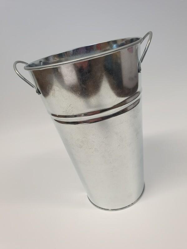 Galvanised Zinc Flower Bucket