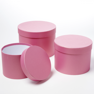 Symphony Hat Box Strong Pink Round
