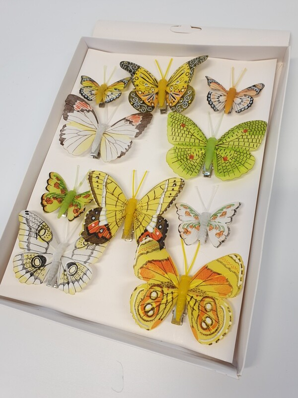 Spring Assorted Butterflies on Clips