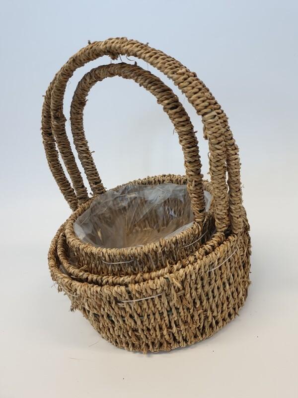 Seagrass Basket Round Set of 3
