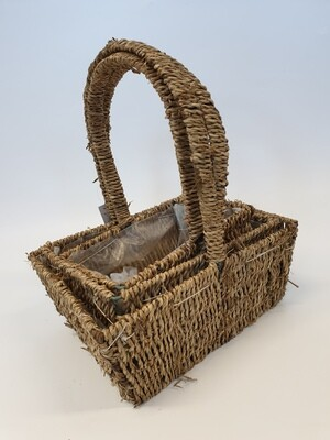 Seagrass Basket Rectangle Set of 3