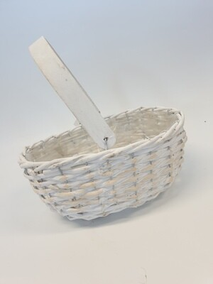 Basket Whitewash woven