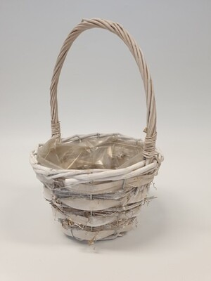 Basket with Two Tone Wicker