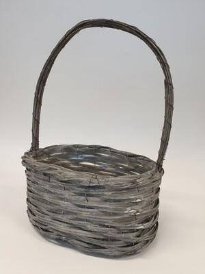 Woodhouse Grey Basket with Handle
