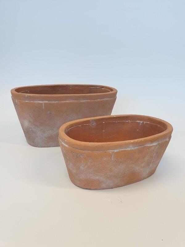 Rustic Terracotta Oval Trough