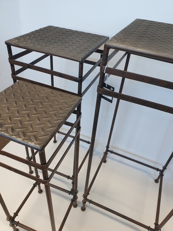 Set of 3 Industrial Plinths