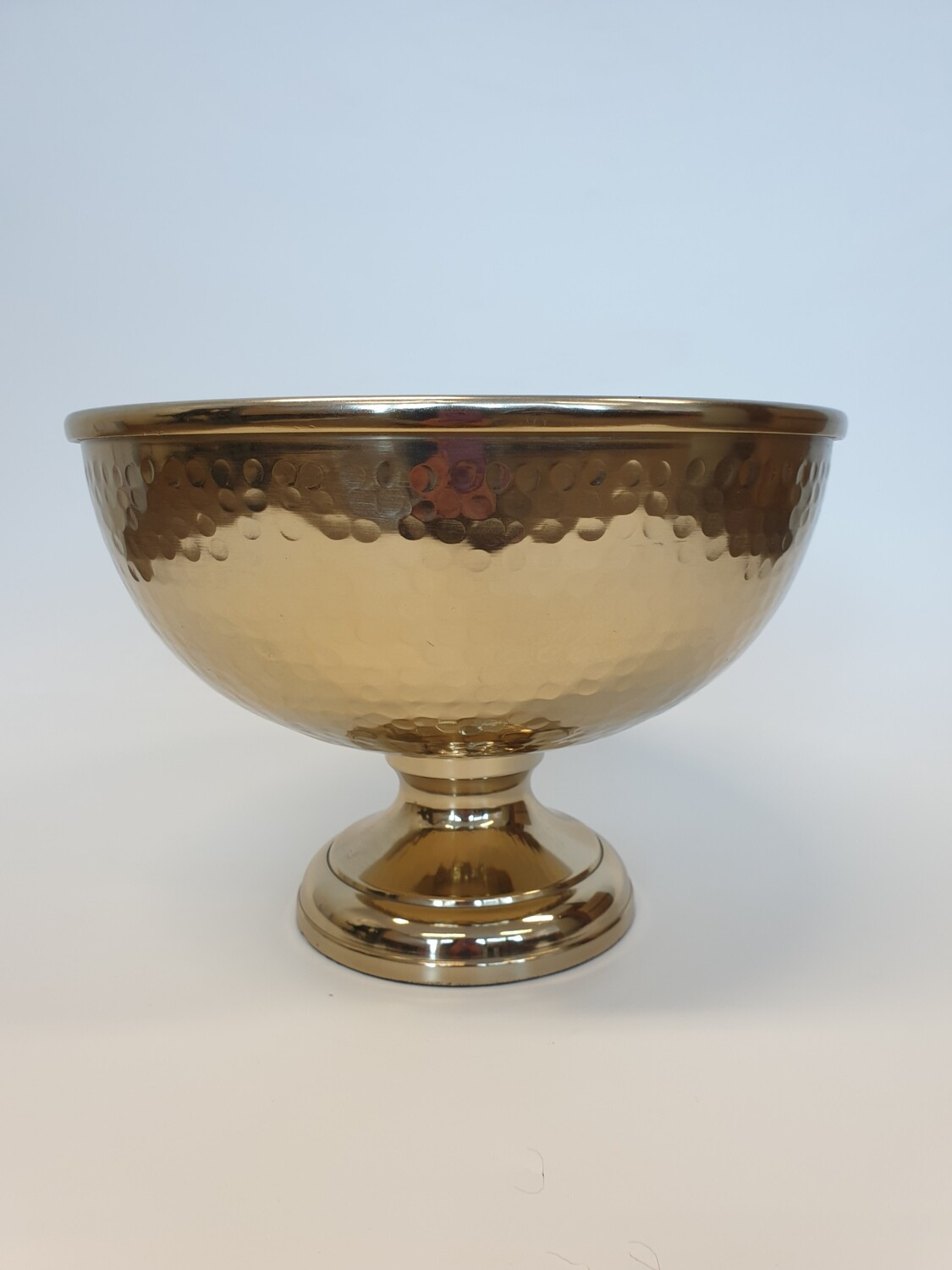Dimpled Punch Bowl Gold