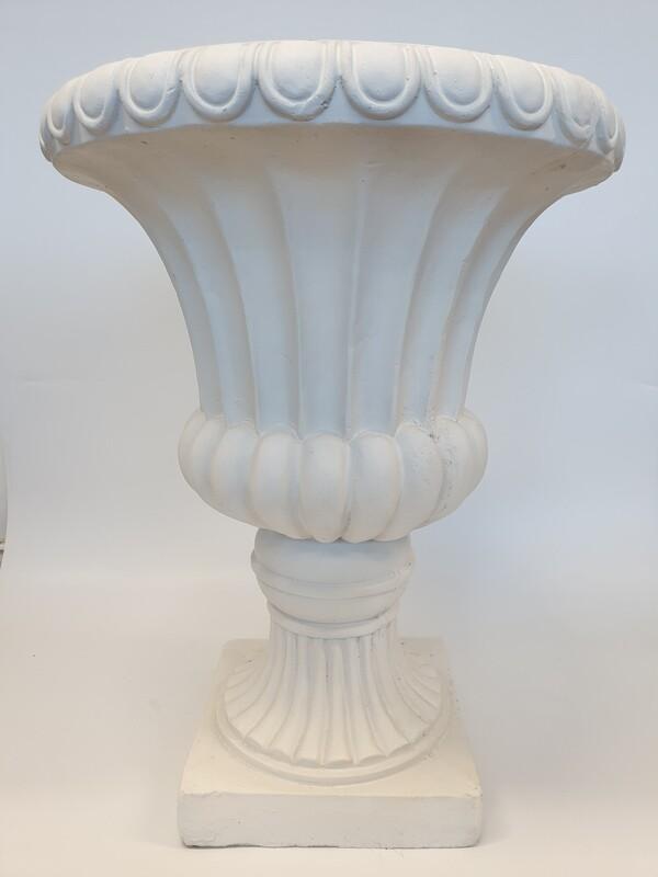 White Ornate Urn