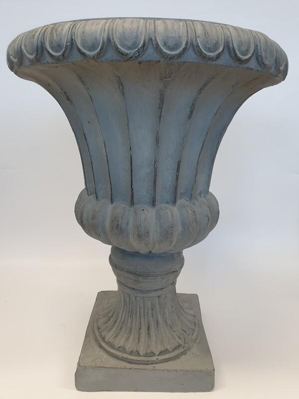 Grey Ornate Urn