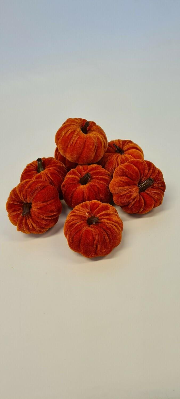 Flocked Pumpkins Orange
