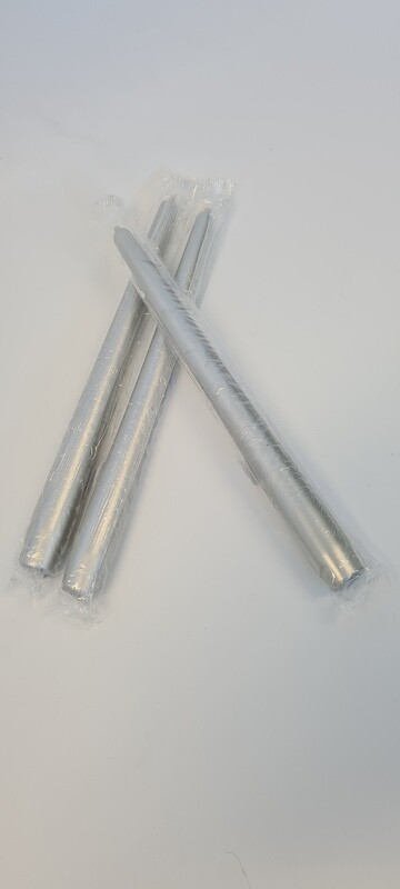 Individual Silver Tapered Candle