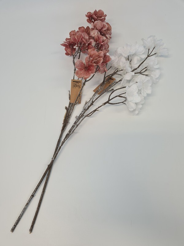 Frosted Blossom Spray