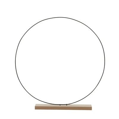 Metal Hoop on Wooden Stand