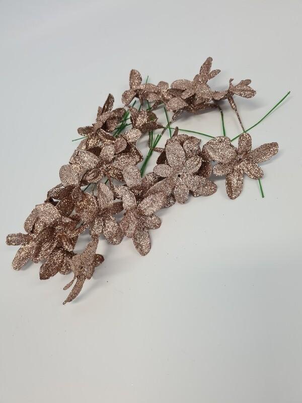 Glittered Flower on Wire