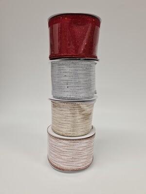 Satin Wired Edge Festive Shimmer