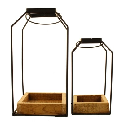Metal Décor Frames with Wooden Base