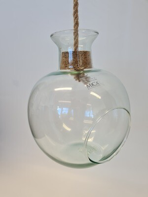 Hanging Glass Container with Rope Handle