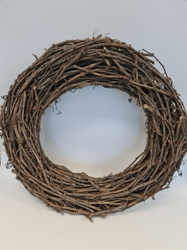Grape Wood Wreath 75 cm