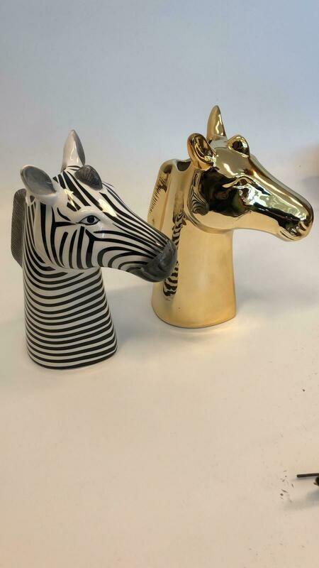 Ceramic Zebra Vase
