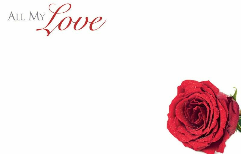 All My Love with Red Rose
