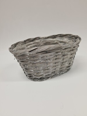 Woodhouse Grey Oval Planter