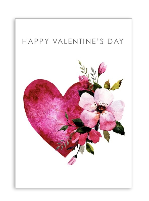 Happy Valentines Day with Heart Folding Card