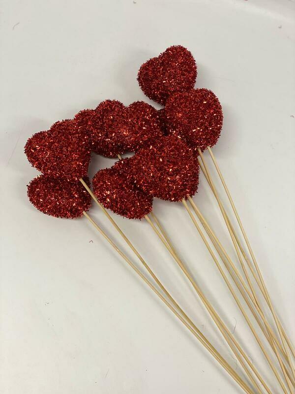 Red Glitter Pick Large