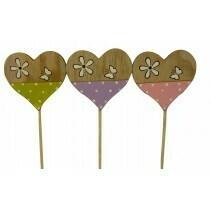 Assorted Wooden Heart Picks