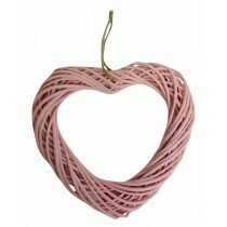 Willow Heart Wreath Pink