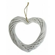 Willow Heart Wreath White