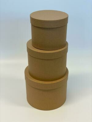 Round Kraft Set of Three