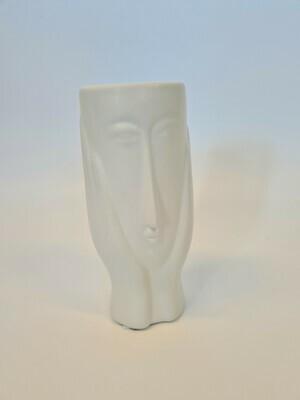 Vase Face White