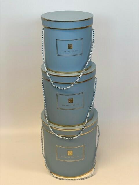 Hat Boxes Hamilton Blue