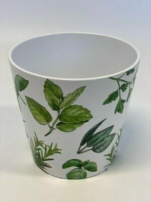 Dallas Ceramic Pot with Herbs