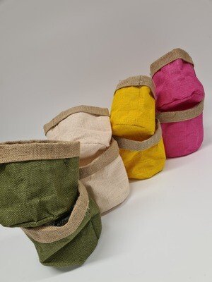 Hessian Bags with Liner Large