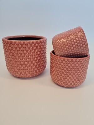 Debossed Pots Pink