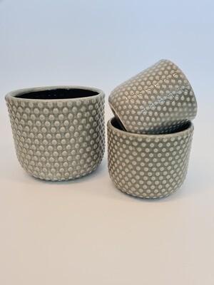 Debossed Pots Grey