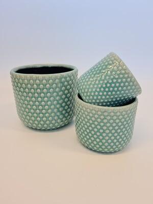 Debossed Pots Blue