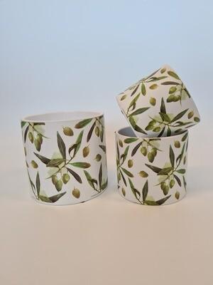 Ceramic Olive Branch Pots