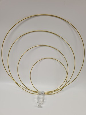 Single Wire Hoop Gold