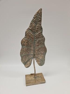 Metal Ornate Leaf on Stand