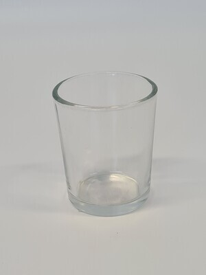 Clear Glass Tea Light Holder