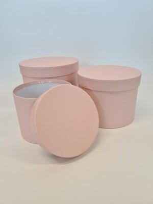 Matt Hat Box Round Pale Pink