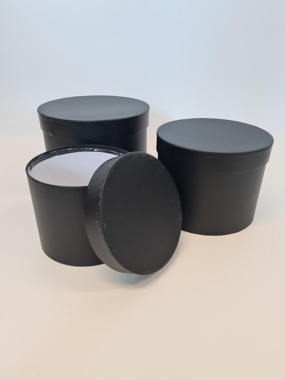 Matt Hat Box Round Black