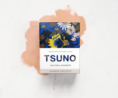 TSUNO Overnight Pads - فوط صحية ليلية بالأجنحة